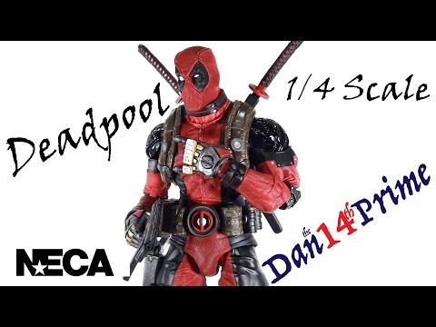 "DEADPOOL Super Poseable 1//4 SCALE Neca MARVEL Ultimate EDITION 2016 18/"" INCH"