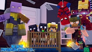 Minecraft MY NEW SUPERHERO FAMILY IS..... AVENGERS INFINTY WAR