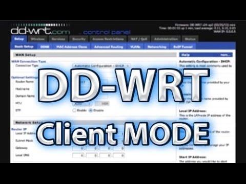 DD-WRT Client Mode Setup - learn-share net