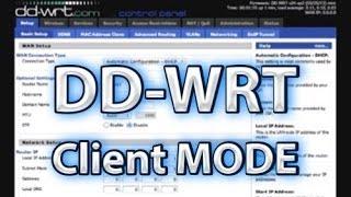 dd wrt client mode setup