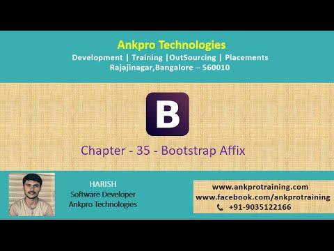 Bootstrap Chapter 35 - Bootstrap Affix