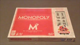 Monopoly 80th Anniversary Edition Unboxing