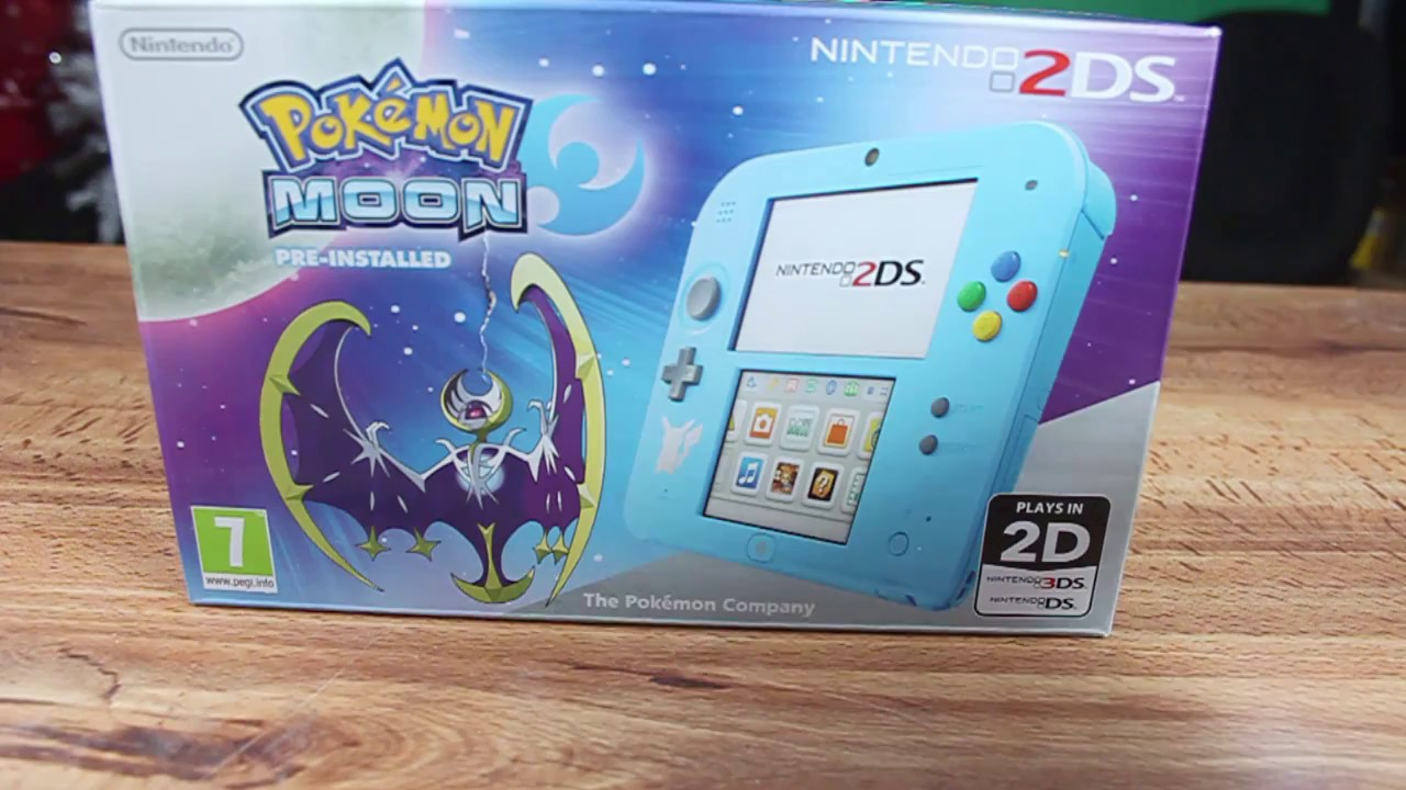 unbxoing nintendo 2ds pokemon moon edition - youtube