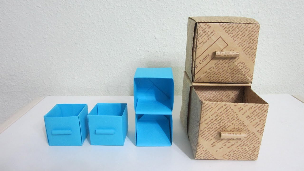 TUTORIAL   How To Make Practical Boxes (Shelf With Drawers)   YouTube