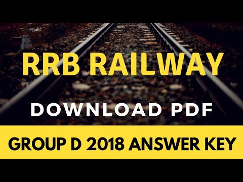 RRB Group D 2018 Answer key Released l Check here