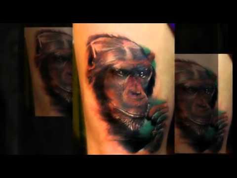 Schimpansen Tattoo Motive