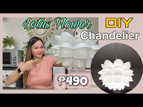 DIY Lotus Chandelier l Unboxing + Assembling l Budget friendly l Heartjem Vlogs