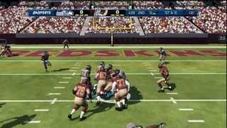 Madden NFL 13 - Seahawks vs Redskins Red Zone Defense Hard Hit HD Gameplay Playstation 3