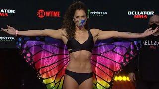 Alejandra Lara vs. Kana Watanabe - Weigh-in Face-Off - (Bellator 255 Pitbull vs. Sanchez 2)
