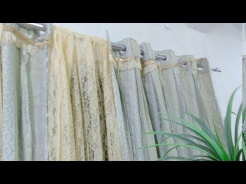How to convert old curtains to plates with ring new type des