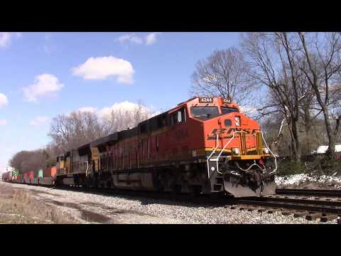 BNSF GE ES44C4 Southbound Intermodal Container on the Norfolk Southern Line