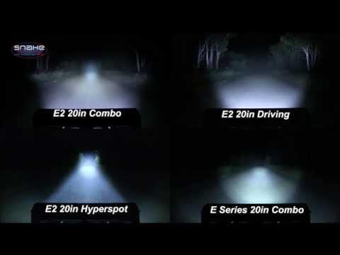 "Rigid Industries 20"" E Series Lightbar Comparison - SnakeRacing"