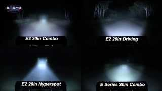 "Rigid Industries 20"" E Series Lightbar Comparison - SnakeRacing"