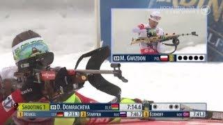 Биатлон Женщины Спринт 7,5 км. 6 декабря 2013 г.  Хохфильцен Австрия