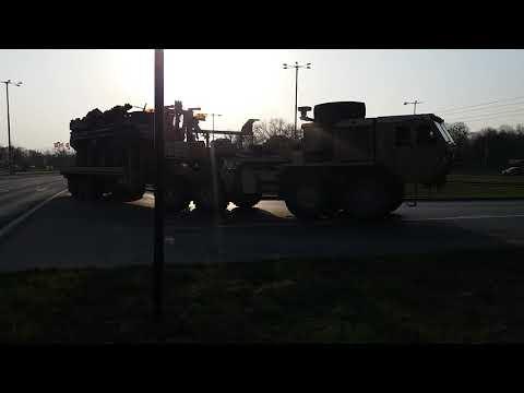 Przejazd Wojsk Amerykańskich przez Toruń (10.04.2018)