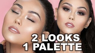 DATE NIGHT MAKEUP TUTORIAL | 2 LOOKS 1 PALETTE