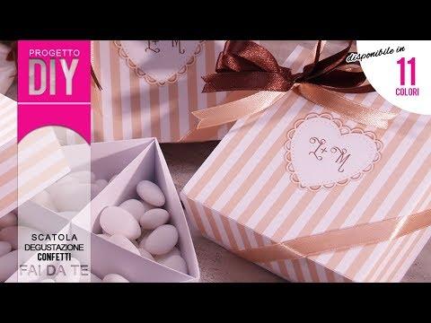 [MATRIMONIO FAI DA TE] Tutorial Scatolina degustazione confetti - progetto #25
