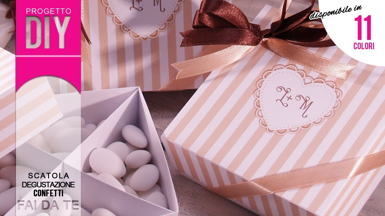 Molto MATRIMONIO FAI DA TE] Tutorial Scatolina degustazione confetti  AG75