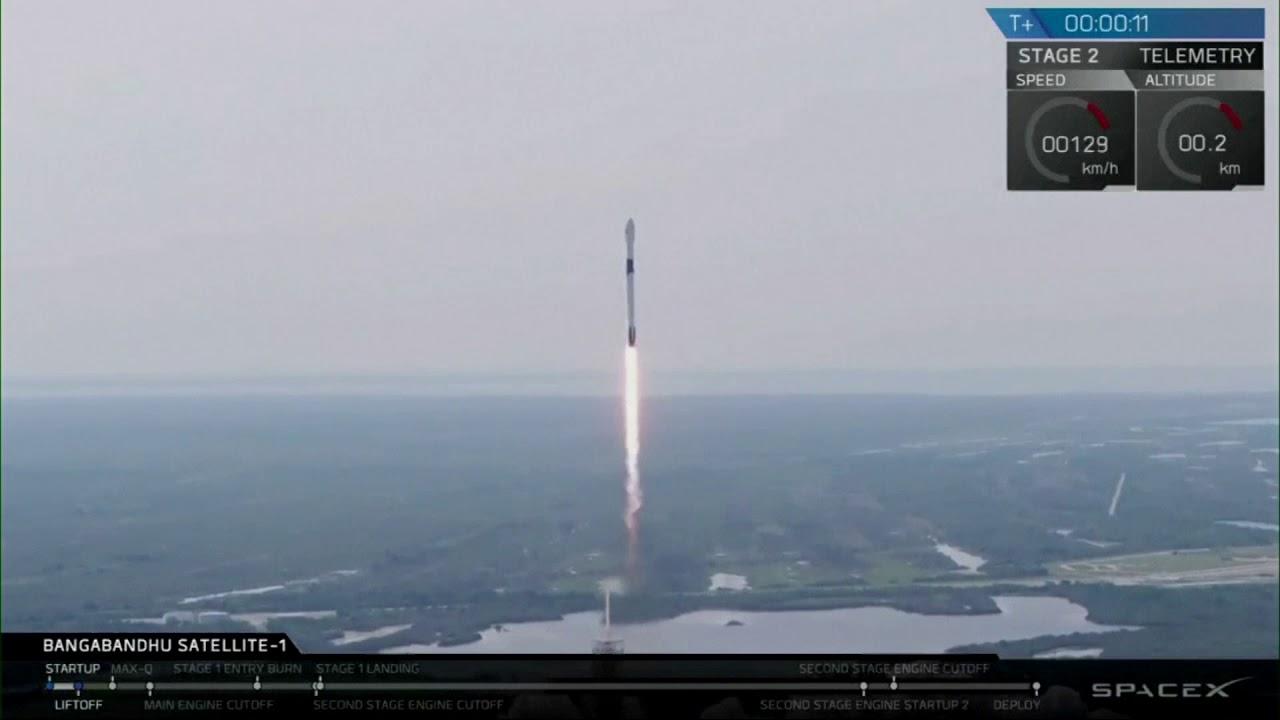 Bangladesh's first satellite launched by SpaceX
