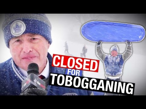 No-Fun police shut down popular Toronto toboggan hill  | David Menzies