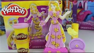PLASTILINA PLAY DOH EN ESPAÑOL Princesas Disney Rapunzel