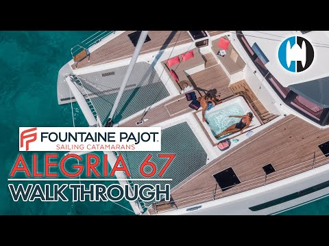2020 Fountaine Pajot Alegria 67 Sailing Catamaran Walkthrough and First Look