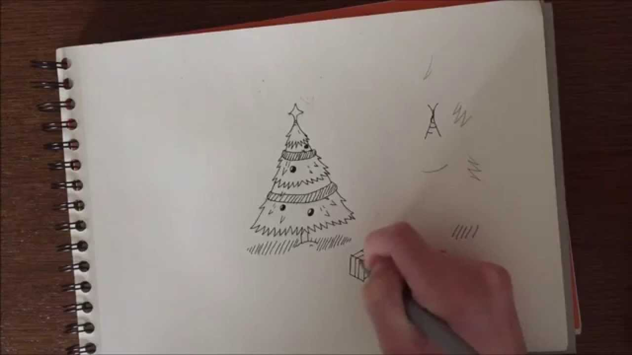 Comment dessiner un sapin de no l pisode sp cial no l - Comment faire un pied de sapin de noel ...