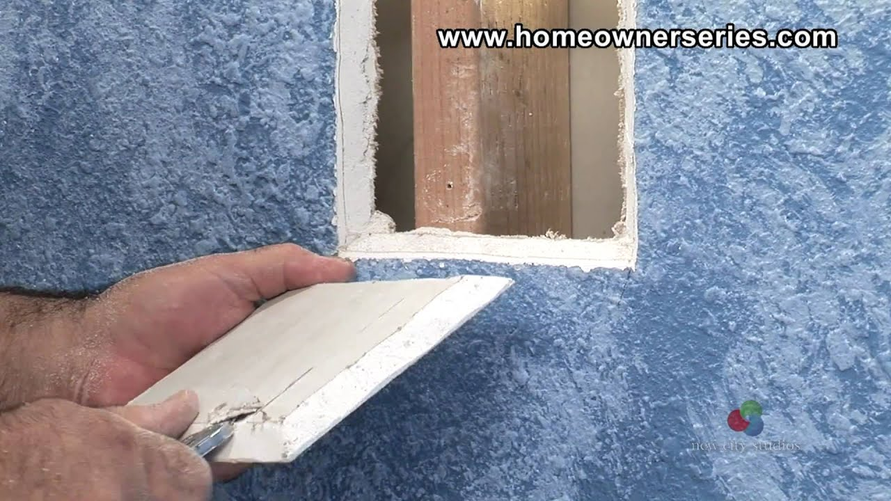 How To Fix Drywall Wall Stud Patch Repair Part 1 Of 2