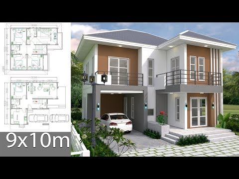 house-plans-design-9x10m-with-5-bedrooms