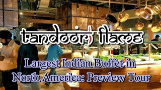Largest Indian Buffet in North America!  Tandoori Flame - Preview Tour