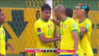 Brasil vs Ecuador: 2-0 Resumen y goles del partido 2022   Clasificatorias Qatar 2022