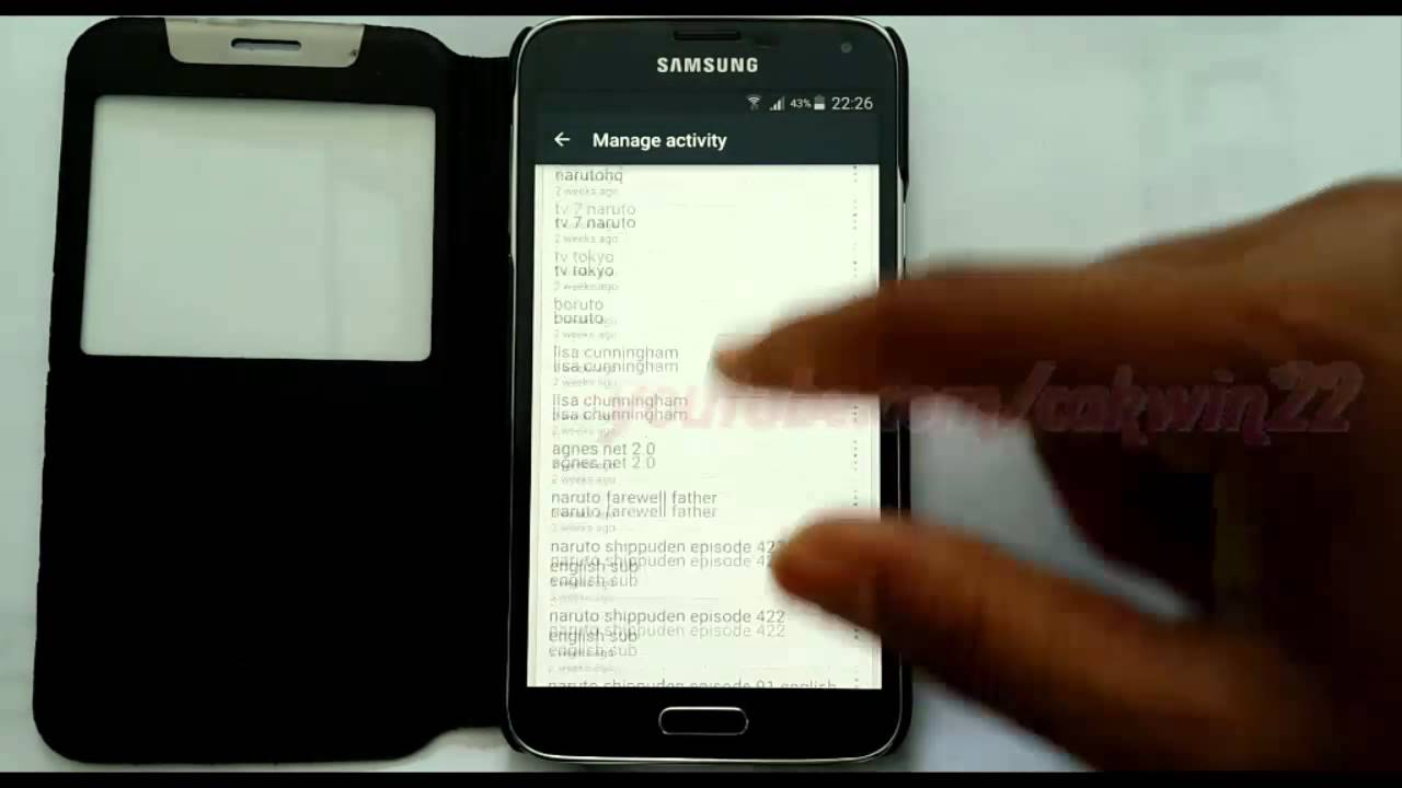 Android Lollipop : How To View Youtube Search History In Samsung Galaxy S5