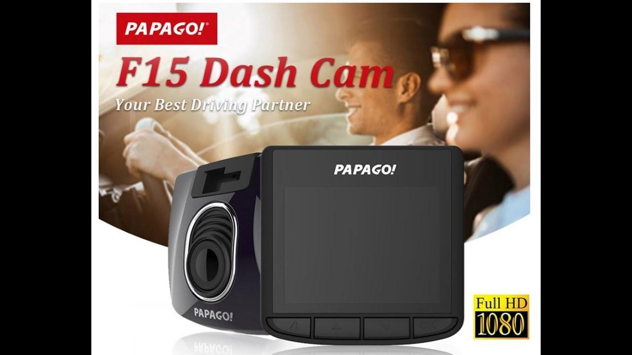 PAPAGO Gosafe 130 Car DVR - YouTube