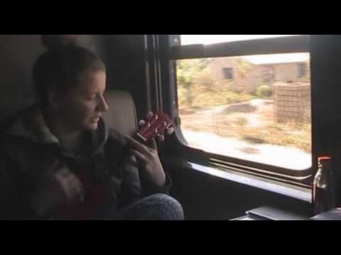 The way from Livingstone to Lusaka by train with ukulele