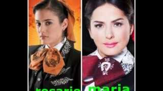 que bonito amor vs la hija del mariachi personajes