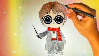 Как нарисовать милого кавайного Гарри Поттера? Лёгкие рисунки для детей