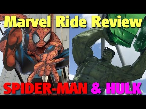 Marvel Ride Review: Spider-Man & Hulk Coaster | Islands of Adventure