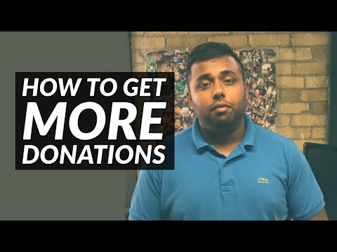 How To Get More Donations