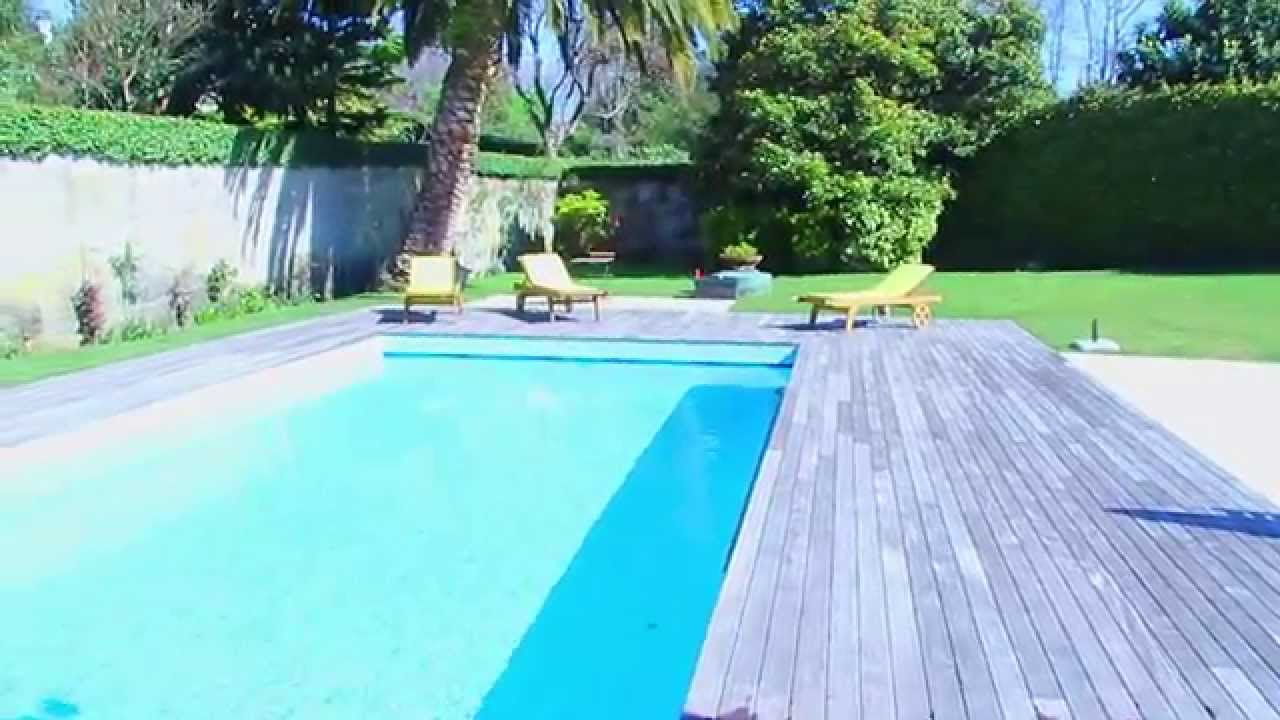 Oporto garden pool house youtube for Landscape gardeners poole