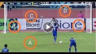 Penalty of Thailand vs Malaysia AFF SUZUKI CUP 2018