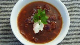 Ukrainian Red Borscht Soup Recipe - Красный Борщ