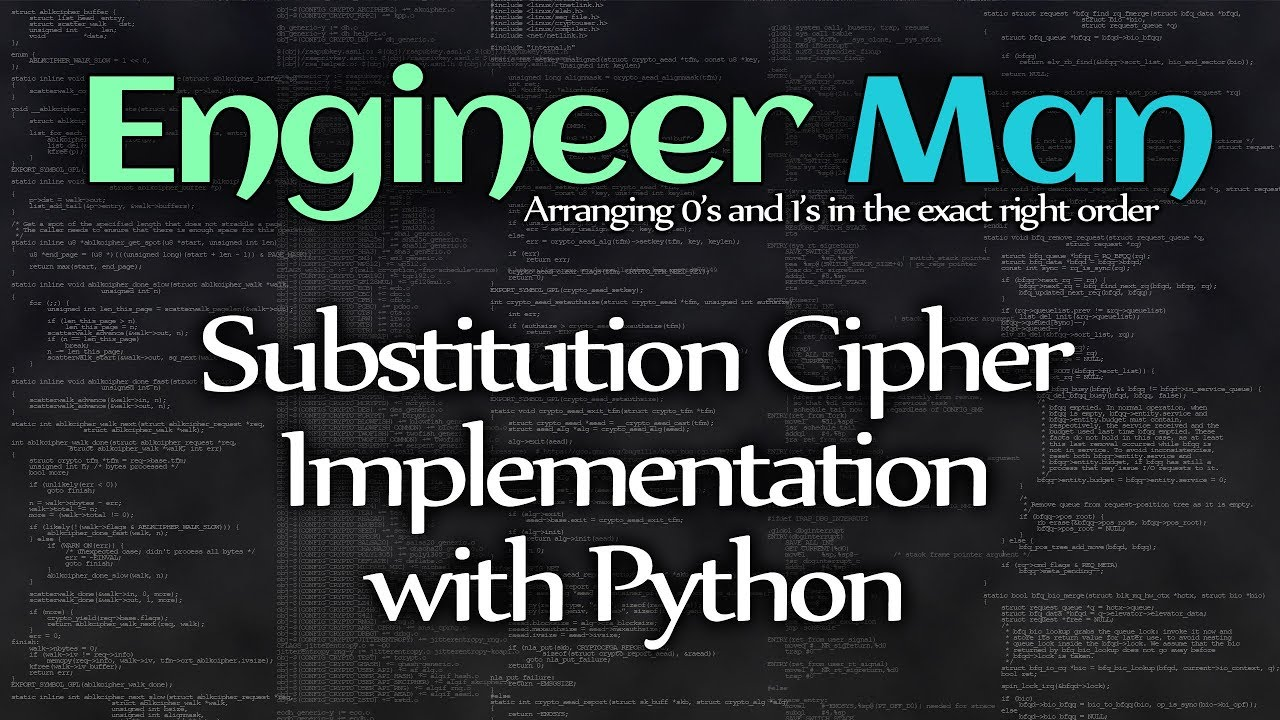 Substitution Cipher Implementation with Python