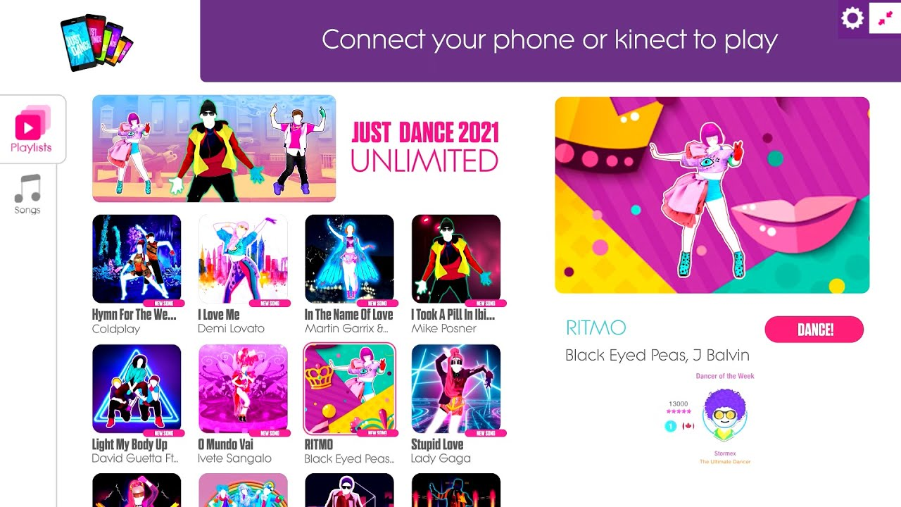Just Dance 2021 Unlimited 300 SONGS! | Menu Songlist