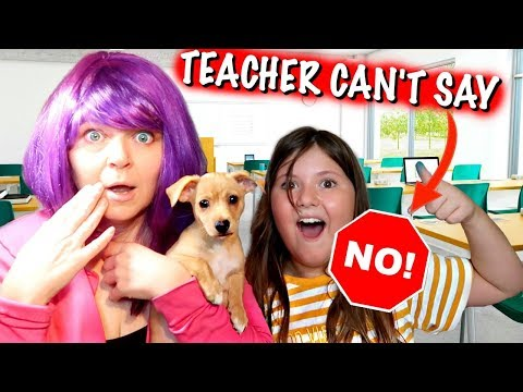 TEACHER CANT SAY NO FOR A DAY! ~KIDS ARE IN CHARGE! What If