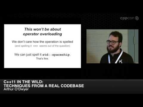 """CppCon 2014: Arthur O'Dwyer """"C++11 in the Wild: Techniques from a Real Codebase"""""""