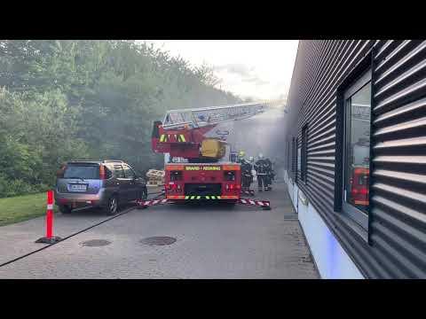 Brand i industribygning på Merkurvej i Slagelse
