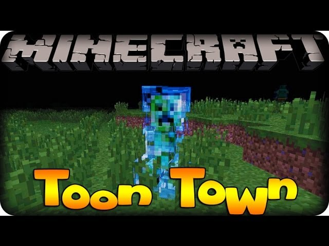 Minecraft Mods - TOON TOWN! - #8 SUPER CHARGED CREEPER!!! (Toon Town Mod) Travel Video