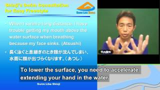 SSCE-02: Head position is too low during breathing. (English subtitles)