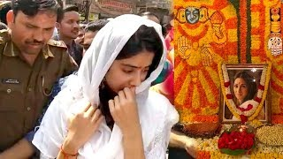 Jhanvi Kapoor CRY!NG At Mother SRIDEVI's 1st D.Annicersary Pooja in Kashi