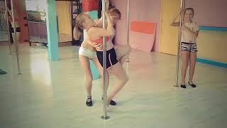 Первое занятие на пилоне )/ Pole Dance